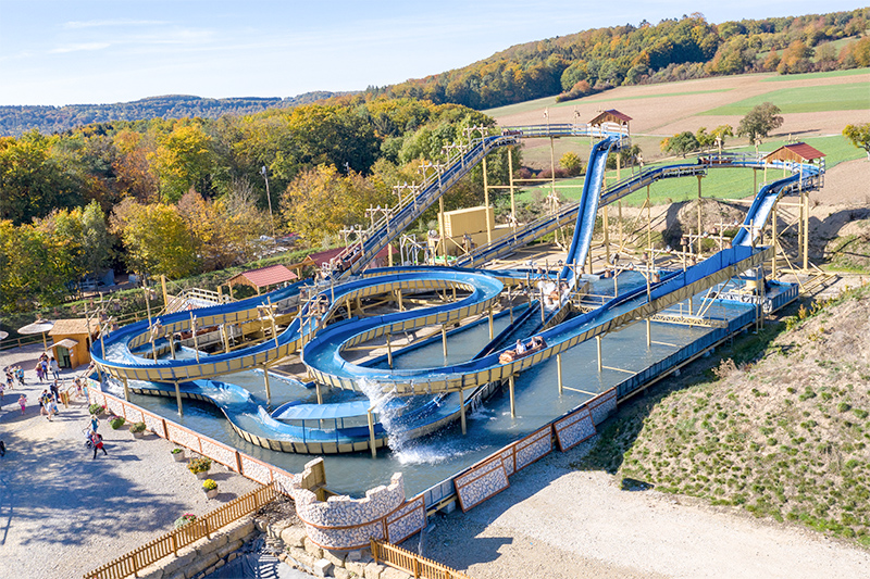 Neu im Eifelpark: Wildwasserbahn Pirateninsel