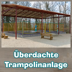 Covered trampolines