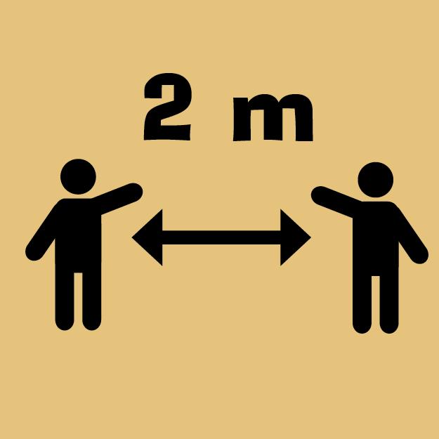 Mindestabstand 2 Meter