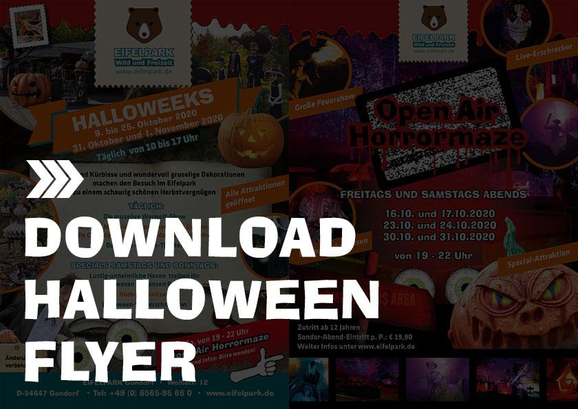 Eifelpark Halloween 2020 Info Flyer
