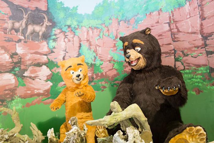 Bärenhöhle mit Purzel und Tatze im Eifelpark