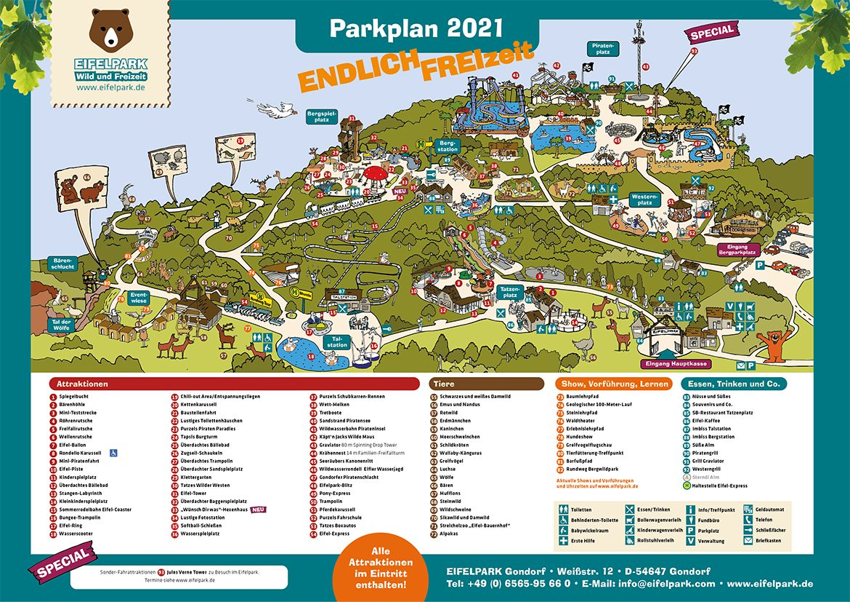 Eifelpark Gondorf Parkplan 2021