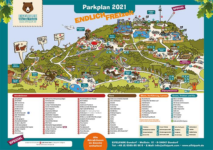 Eifelpark Parkplan 2021
