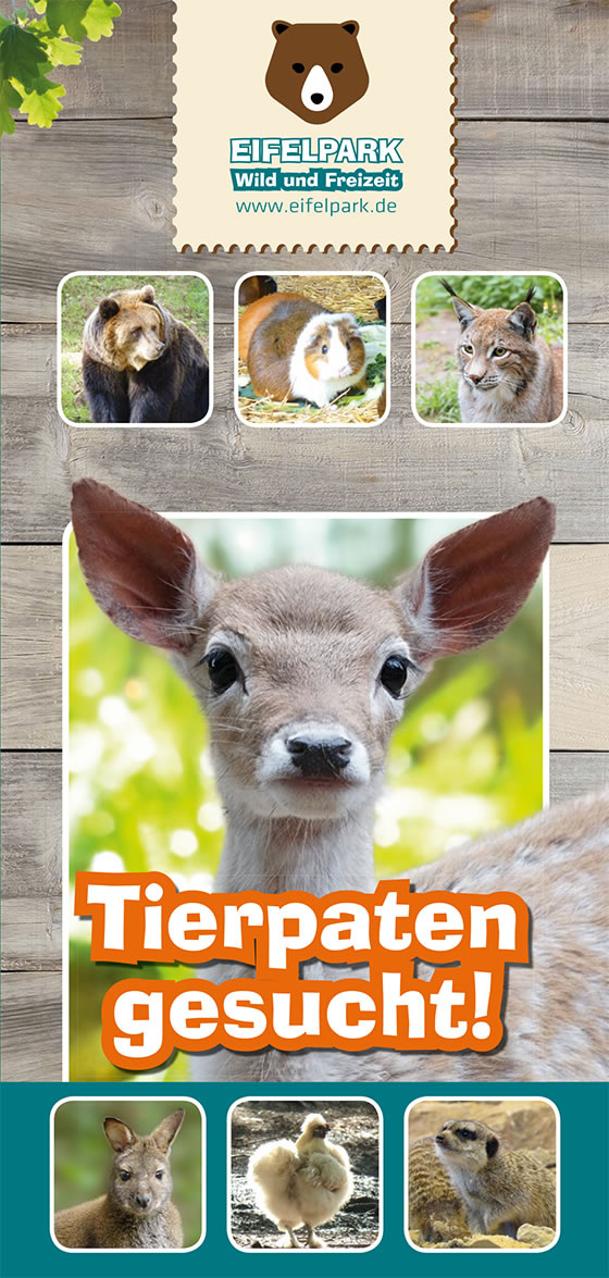 Eifelpark Tierpatenflyer 2019