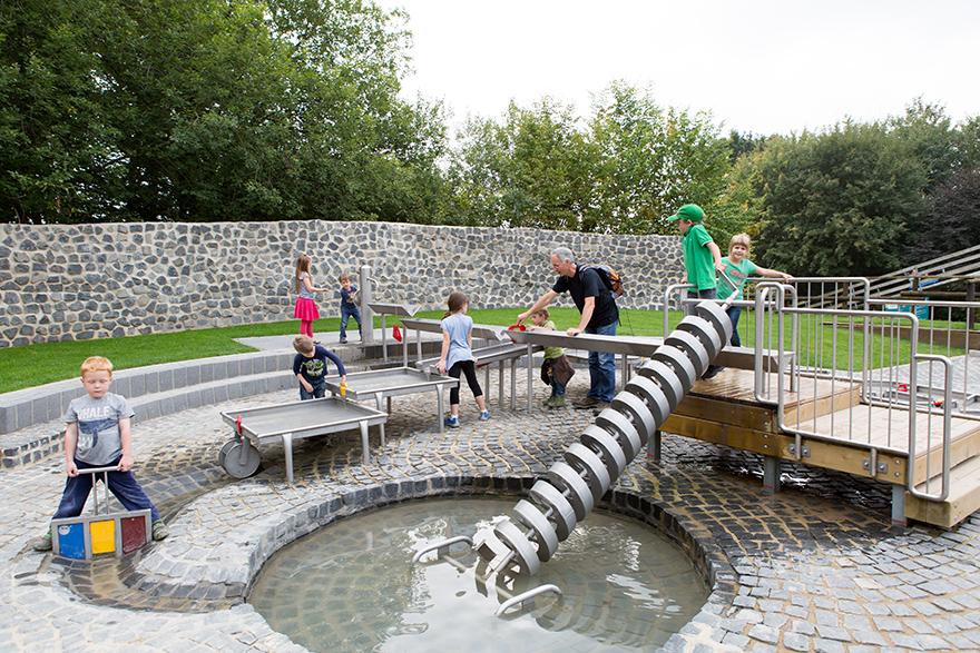 Wasserspielplatz im Freizeitpark Eifelpark