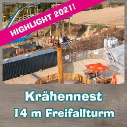 Krähennest 14m Freiffalturm Eifelpark