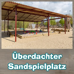 Covered sand playground