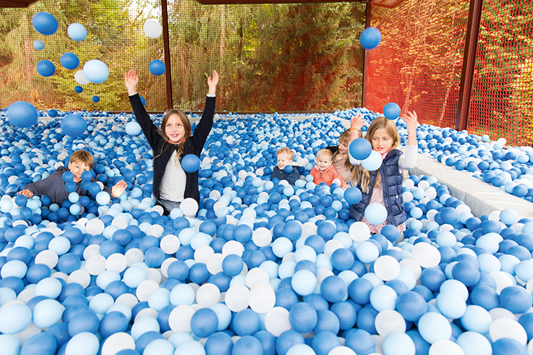 Covered giant ball pool