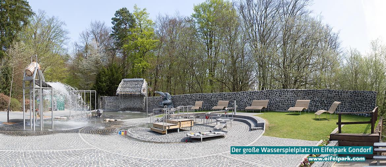 Wasserspielpatz im Eifelpark Gondorf