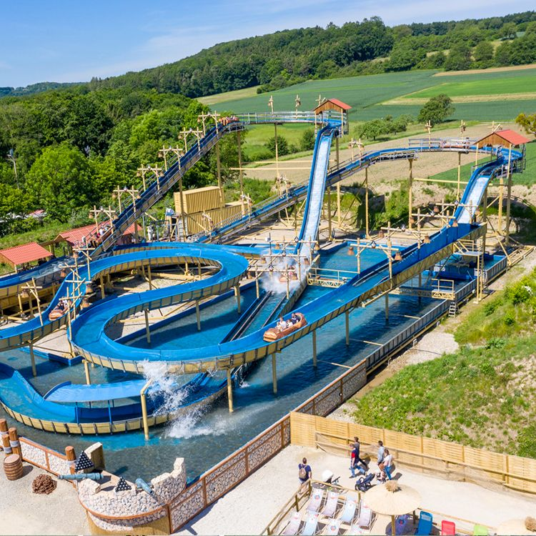 Wildwasserbahn Pirateninsel Freizeitpark Deutschland