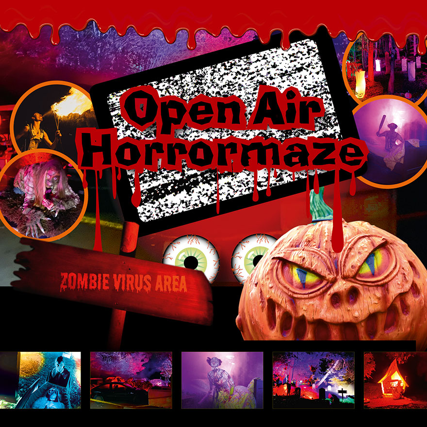 Open air horrormaze amusement park germany 2020
