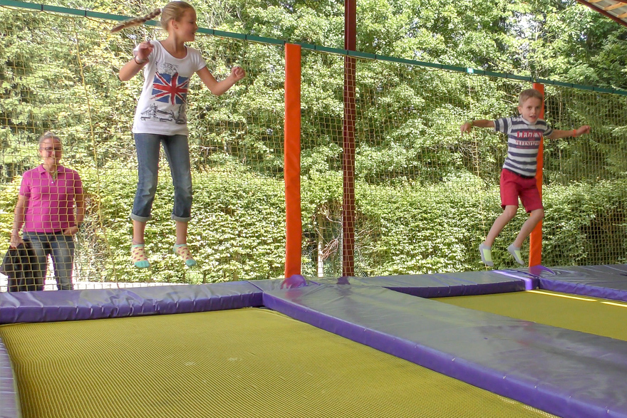 Trampolines couverts