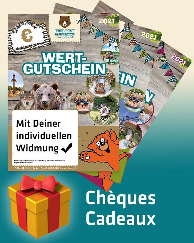 Achetez des chèques cadeaux Eifelpark!