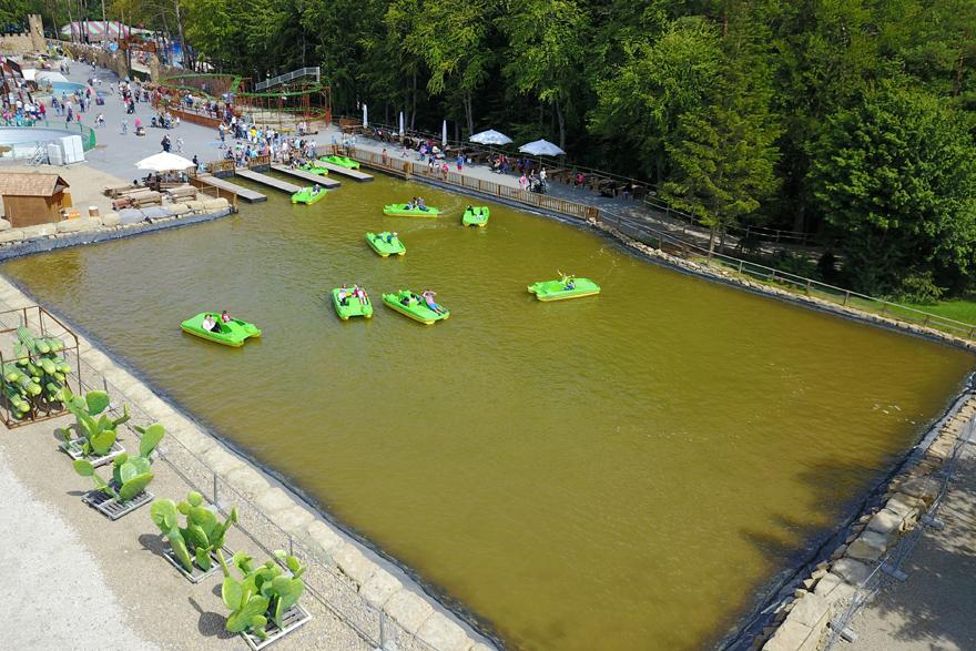 Waterfiets-rit