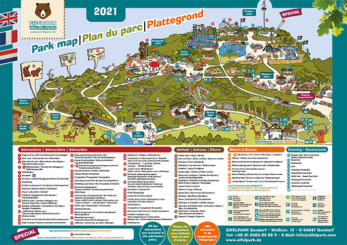 Eifelpark Plattegrond 2021